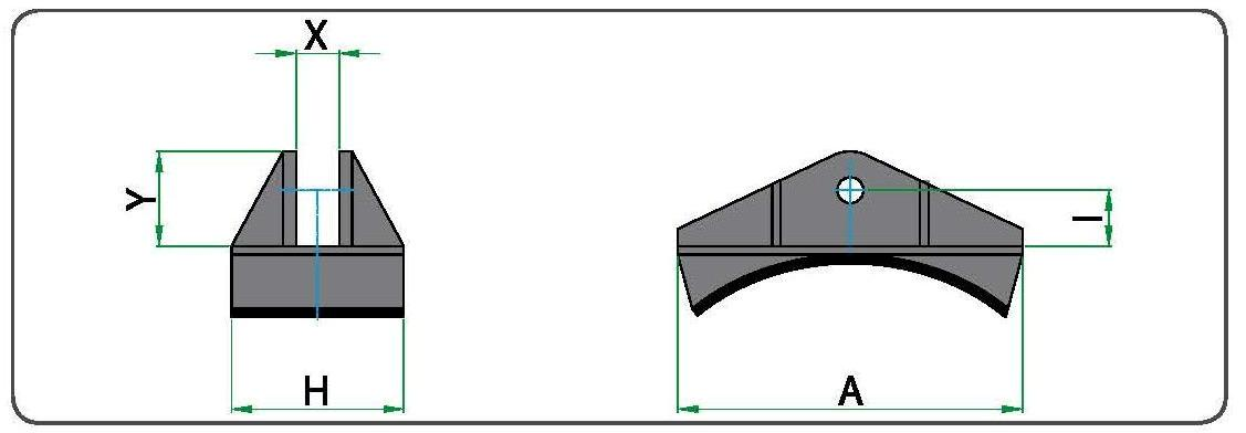 Технический рисунок насадок цилиндрической формы