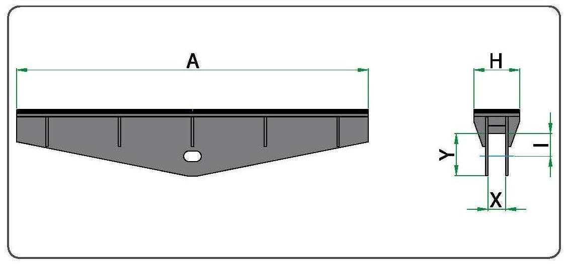 Технический рисунок насадки с резиновым покрытием